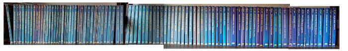 Terra-Fantasy-Bände im Regal
